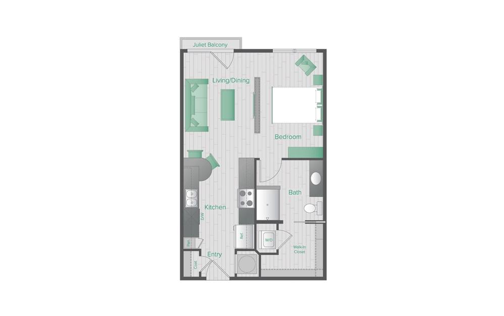 Midtown Green A1 Floorplan