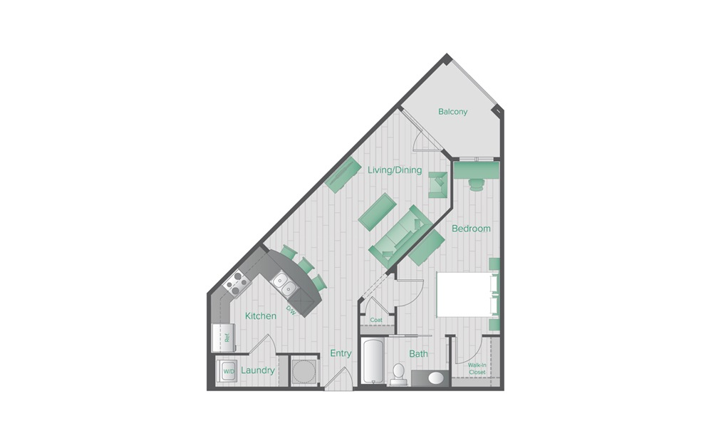 Midtown Green B2 Floorplan