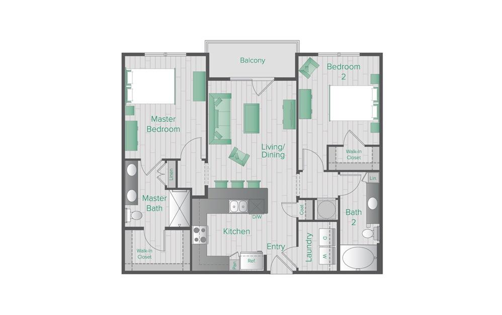 Midtown Green C1 Floorplan