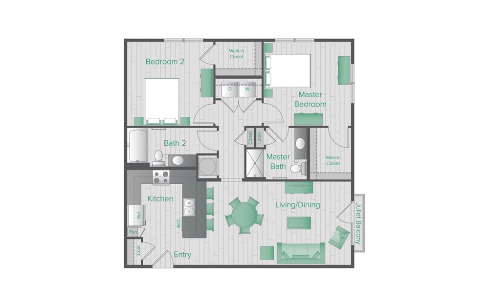 Midtown Green C2 Floorplan